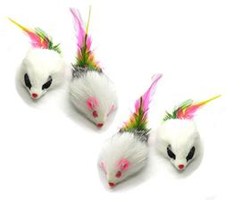 Kats'N Us Real Rabbit Fur Long Hair Feather Tail Mouse Cat T