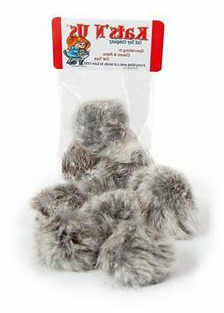 real rabbit fur pom pom cat toy
