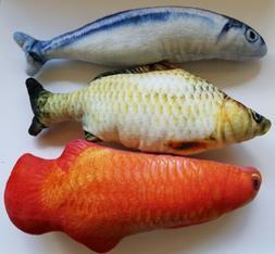 realistic catnip fish shape cat play toy