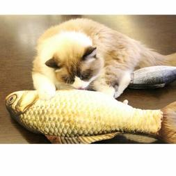 Realistic Fish Cat Funny Crazy Toy Catnip Pet Scratching Che