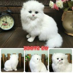 Realistic Persian Cat Animals Models Stuffed Plush Toy Child