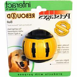Petstages Rebound Bounce Back Ball Interactive Dog Toy Yello