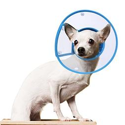 PETBABA Recovery Collar Cone, Clear Soft Padded Tiny Adjusta