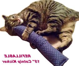 refillable 15 catnip cat kicker toys kitty