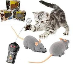 Ialwiyo Remote Controlled Mouse, Mouse Robotic Cat Toy Inter