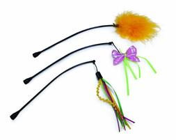 Smartykat Feather Whirl Replacement Wands Cat Toy