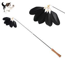 Petacc Retractable Cat Teaser Toy Flexible Pet Teaser Wand I