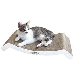 Evelots Reversible Cat Scratcher Kitty Bed,Corrugated Cat Sc
