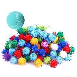 Rimobul Assorted Color Sparkle Balls My Cat's All Time Favor