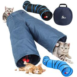 PAWABOO S-Shaped Tunnels Collapsible Cat Play Tunnel Toy Int