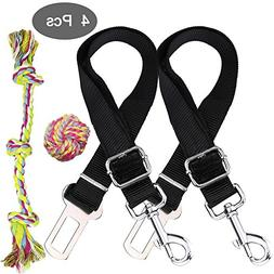 YuCool 4 Pieces Safety Leads Vehicle Seatbelt Harness Adjust