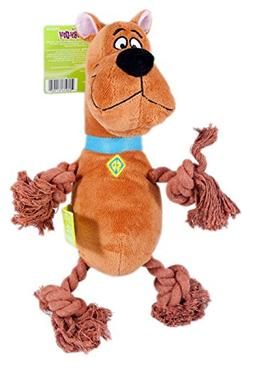 Scooby Doo Plush Rope Dog Squeak Toy, 2-Pack