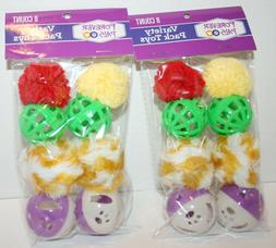 SEALED Forever Pals Cat Balls with Bells Variety Toys Two 8