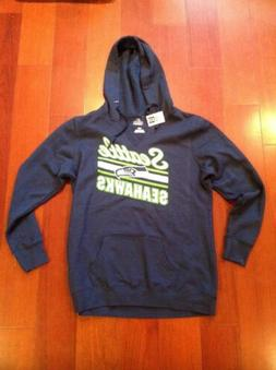 SEATTLE SEAHAWKS by NFL Majestic Hoodie T-Shirt Size Large 1