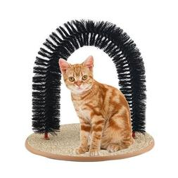 Purrfect Arch Self Groomer with Bag of Catnip, Cat Grooming