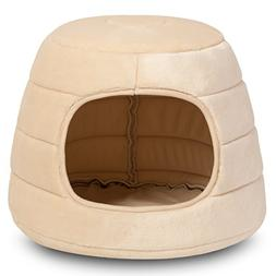 Hollypet Self-warming Comfortable Triangle Cat Bed Cave Hous