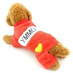 SELMAI Comfort Soft I love Mommy Dadoy Dog Jumpsuits Fleece
