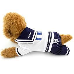 PEGASUS SELMAI Puppy Shirts Navy Small Dog Coat Pattern Pet