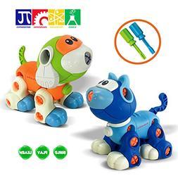 Kidtastic Set of Take Apart Toys - Cat & Dog Models - STEM B