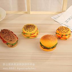 Simulation Hamburger Dog Toy Vinyl Nontoxic Biting Chewing P
