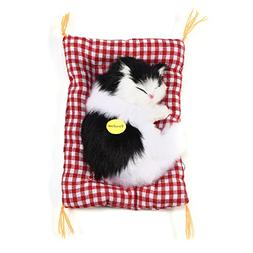 GLOGLOW  Simulation Sleeping Cat Toy with Soft Mat Bed Durab