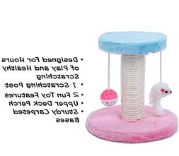 AmazeOn Sisal-wrapped Cat Scratching Post Cat Tree with Toy
