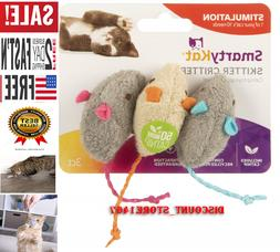 SmartyKat Skitter Critters Cat Toy Catnip Mice, 3/pkg ، Val