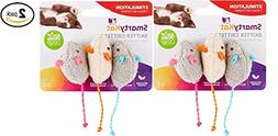 SmartyKat Skitter Critters Mice, Set of 3 Catnip Cat Toys  -