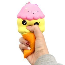 Besegad Slow Rising Squishy Ice Cream Cone Squeeze Squishies