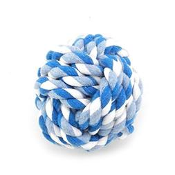 SMALLLEE_LUCKY_STORE XCW0022-S Pet Rope Ball Chew Toy for Pu