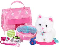 "Sophia's JL-KA Soft White Kitten & Accessory Set | 18"" Doll"