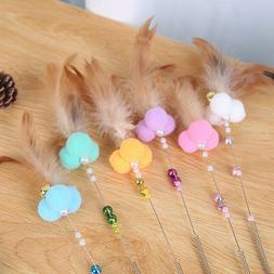 cat teaser cat toy feather pom pom