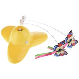 Yunt Spinning Interactive Butterfly Cat Toy, Electric Rotati