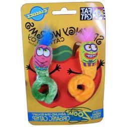 2PK Spr Worms Cat Toy