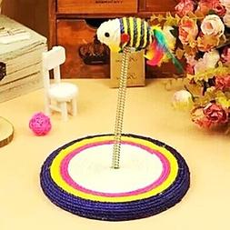 lcj Spring Platform With Sisal Rat Toys For Cats