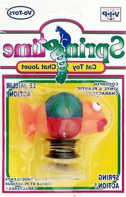 springtime bass cat toy vinyl plastic