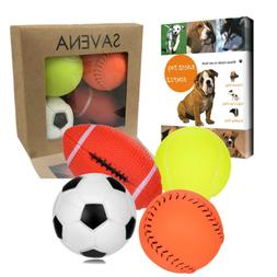 Savena Squeaky Dog Ball -New Upgrade Made by Non-Toxic Odorl