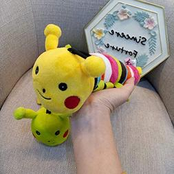GHUOSKKL Squeaky Plush Dog Toy - Caterpillar, Suitable For S