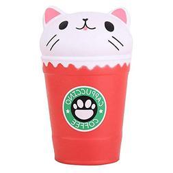 "Anboor 5.3"" Squishies Cat Coffee Cup Jumbo Slow Rising Kawai"