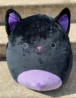 "Squishmallow Kellytoy 16"" Halloween Autumn the Black Cat Plu"