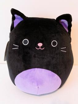 "Kellytoy Squishmallow Halloween 12"" Black Cat Super Soft Plu"