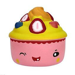 ZERMDIEY1 Squishy Jumbo Cute Cake Toy Slow Rising Scented So