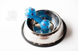 Stainless Steel Dog Bowls, Cat Bowl, Pet with Chew Toy