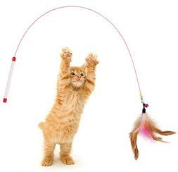 Da.Wa Attractive Steel Wire Cat Teaser Cat Toy Cat Rod Cat w