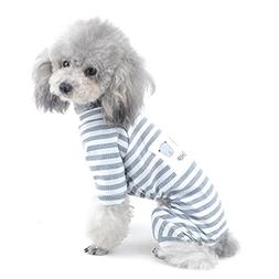 SELMAI Stripe Pajamas for Small Dog Pet Cotton Jumpsuit Dogg