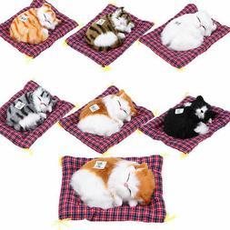 Stylish Artificial Furry Animal Sleeping Cat Children Toys H