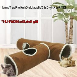 Suede Cat Tunnel Large Holes Pet Cat Play Tunnels Rabbit Toy