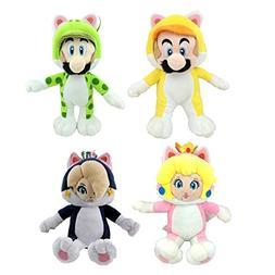 Super Mario 3D World Cat Mario Luigi Peach Rosalina Princess