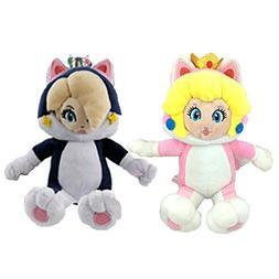 Super Mario 3D World Cat Peach Rosalina Princess Plush Toy S
