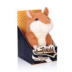 Woodyotime Talking Back Hamster Toy Repeats What You Say Plu